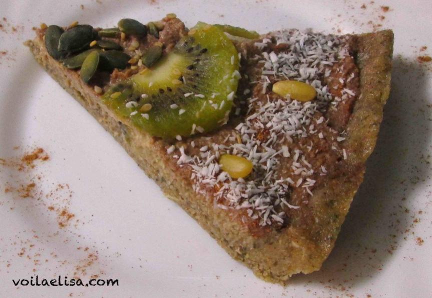 tarta-manzana-sin-gluten-sin-lactosa-sin-azucar-sana-facil-arabe-frutos-secos-semillas-kiwi