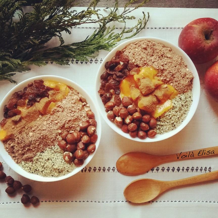 gachas-crudiveganas-porridge-fruta-otoño-manzana-platano-sin-gluten-lactosa-azucar-saludable-desayuno-merienda-blog-iswari-superalimentos-cañamo-proteina-grasas-energia-carbohidratos-vegano