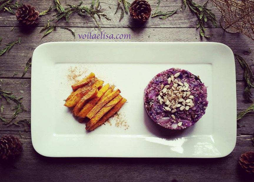 menu-navideño-timbal-quinoa-lombarda-manzana-pasas-cruciferas-anticancer