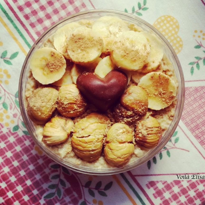 porridge-gachas-avena-sin-gluten-sin-lactosa-sin-azucar-vegano-otoño-castañas-platano-mango-mermelada-bombones